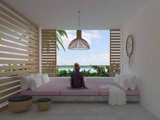 Casa Mara - Bacalar, Quintana Roo.: Salas de estilo  por Obed Clemente Arquitecto