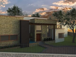La Estancia : Casas de estilo  por Integra Arquitectos
