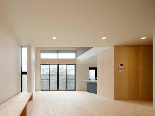 多層空間の家: 一級建築士事務所 アリアナ建築設計事務所が手掛けたリビングです。,