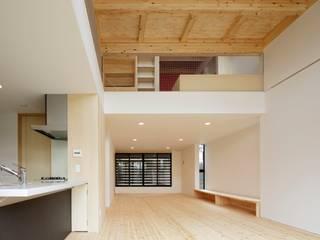 多層空間の家: 一級建築士事務所 アリアナ建築設計事務所が手掛けたダイニングです。,