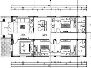 Bản vẽ nhà ống 1 tầng 3 phòng ngủ 1 phòng thờ:   by Công Ty Wedo