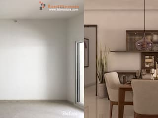 Before and after home interiors by Fabmodula