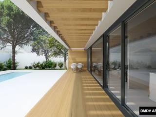 Casa PASSIVHAUS Manzanares el Real: Terrazas de estilo  de DMDV Arquitectos