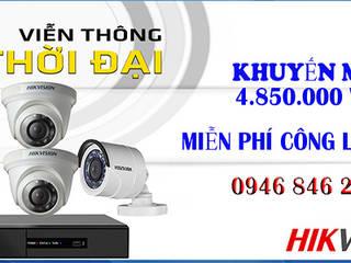 trọn bộ 4 camera hikvision giá rẻ: Piscinas de estilo industrial por vienthonthoidai