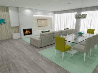 Projeto de Moradia em Esposende já em Produção: Salas de estar  por Atelier Kátia Koelho