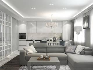 Дизайн проект интерьера 3к. квартиры в ЖК Культура г. Хабаровск: Кухни в . Автор – Студия дизайна интерьера L'grans,