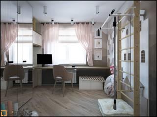 Дизайн проект интерьера 3к. квартиры по ул. Трубный: Детские комнаты в . Автор – Студия дизайна интерьера L'grans,