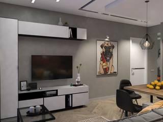 Дизайн интерьера 2к. квартиры в ЖК Культура: Гостиная в . Автор – Студия дизайна интерьера L'grans,