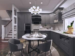 Дизайн интерьера коттеджа в п. Ракитное: Кухни в . Автор – Студия дизайна интерьера L'grans
