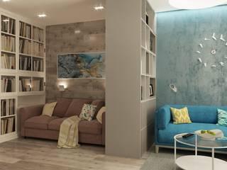 Дизайн интерьера комнаты по ул. Шеронова: Гостиная в . Автор – Студия дизайна интерьера L'grans