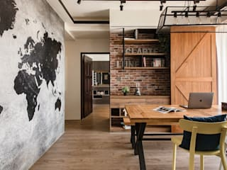 Industrial style dining room by 澄月室內設計 Industrial
