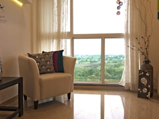 Weekend Home @ Lodha Belmondo Minimalist living room by Aspire Arch Studios Minimalist