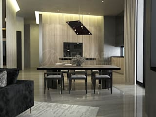 Porsche Tower Apartment.   Апартаменты в Porsche Design Tower.: Столовые комнаты в . Автор – NEUMARK