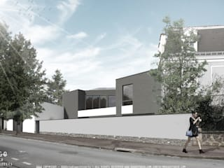Gabriel Peri - Projecto para uma moradia de luxo Casas modernas por OGGOstudioarchitects, unipessoal lda Moderno