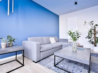 wide living space Isabel Gomez Interiors ห้องนั่งเล่น Turquoise