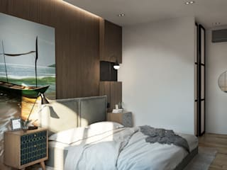 Minimalist bedroom by FISHEYE Architecture & Design Minimalist