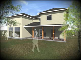 VIVIENDA PARCELA SANTO DOMINGO Casas estilo moderno: ideas, arquitectura e imágenes de Vicente Espinoza M. - Arquitecto Moderno