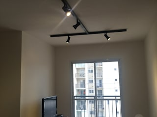 Apartamento Passeio Leopoldina: Salas de estar  por camila shiraiva . ARQUITETA E URBANISTA,Industrial