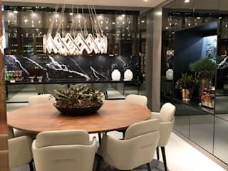 G.F Studio Design Modern Home Wine Cellar Black