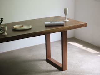 wood slab table: 모벨제이의