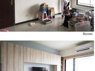 樂宅設計|萬華榮耀君悅|三代同堂大收納30坪三房兩廳全室系統櫃+輕裝修 根據 樂宅設計|系統傢俱