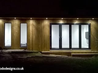 Garden room to be used as a home gym Modern gym by apodo designs Modern