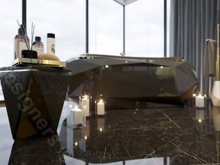 Penthouse: styl , w kategorii Sypialnia zaprojektowany przez Intellio designers