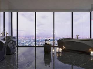 Penthouse: styl , w kategorii Okna zaprojektowany przez Intellio designers