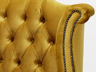 Decordesign Interiores SalonesTaburetes y sillas Textil Amarillo