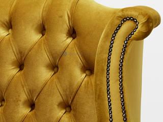 Decordesign Interiores SalasBancos y sillas Textil Amarillo