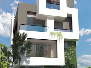 exterior houses:  Multi-Family house by S Squared Architects Pvt Ltd.