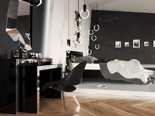 Minimalist bedroom by SLASTNIKOV Minimalist