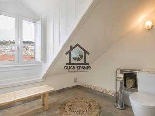 APARTAMENTO EM LISBOA (SAPATEIROS): Casas de banho modernas por Click Inside - Real Estate Photography