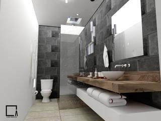 Proyecto KC Baños modernos de Osuna Arquitecto Moderno