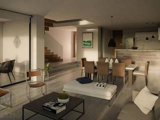WERHAUS ARQUITECTOS Modern Living Room