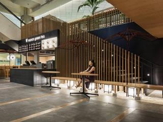 「野点」 モダンなレストラン の 株式会社KAMITOPEN一級建築士事務所 モダン