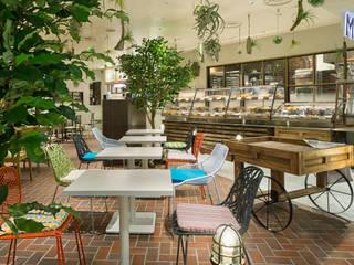 「縁側 」 モダンなレストラン の 株式会社KAMITOPEN一級建築士事務所 モダン