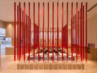 「炉を切る」 モダンなレストラン の 株式会社KAMITOPEN一級建築士事務所 モダン