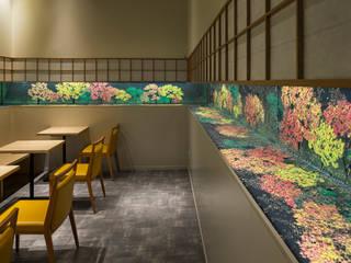 「池泉庭園」 モダンなレストラン の 株式会社KAMITOPEN一級建築士事務所 モダン