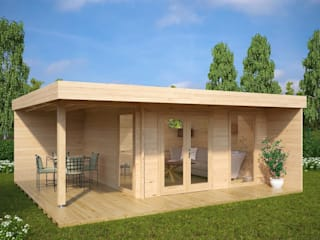 Modern Summer House Hansa Lounge XL with Veranda:  Log cabin by Summerhouse24