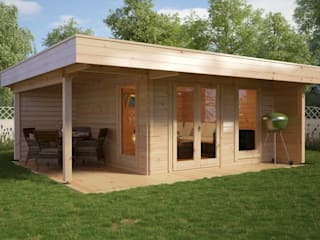 Garden Room Hansa Lounge XL:  Log cabin by Hansagarten24