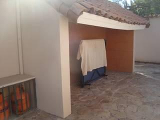 Casa estilo Chileno por DAMRA: Terrazas  de estilo  por DIEGO ALARCÓN & MANUEL RUBIO ARQUITECTOS LIMITADA