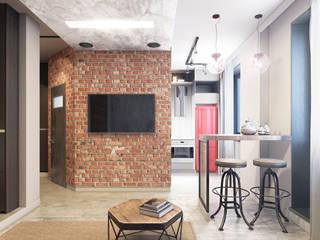 Квартира-студия в стиле лофт: Гостиная в . Автор – L.DesignStudio