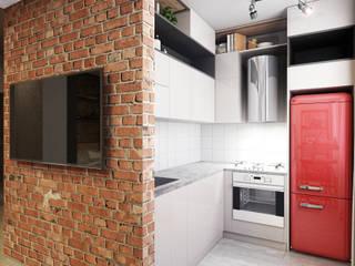 Квартира-студия в стиле лофт: Кухни в . Автор – L.DesignStudio