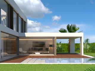 Diseño del proyecto de una casa unifamiliar en Granada de dcr arquitecto Moderno