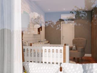 Studio MP Interiores Kamar bayi MDF Grey