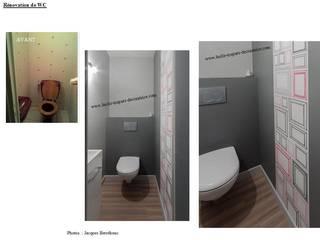 WC rénovés. par Lucile Tréguer, décoratrice d'intérieur