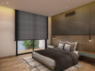 Residencia Temozón 16: Recámaras de estilo  por Escaleno Taller de Diseño
