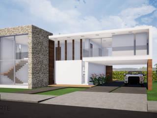 CASA CAMPESTRE : Casas de estilo  por CONSTRUCCIONES DISEÑARTE