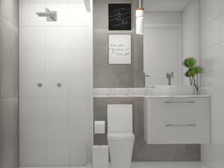 Banheiro social: Banheiros  por Studio MP Interiores ,Moderno Concreto